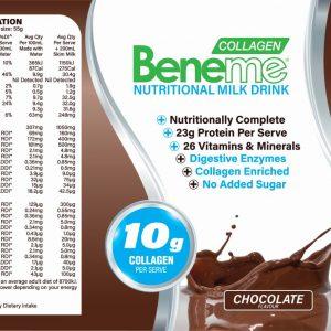 Beneme Labels 495g V4c Outlined Beneme Chocolate Large