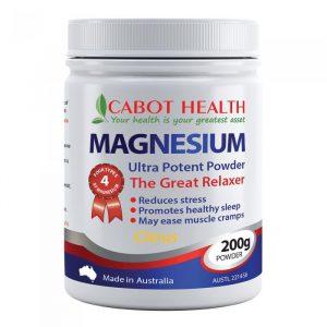 Cabot Health Magnesium Ultra Potent Citrus Powder 200g Media 01 Lrg