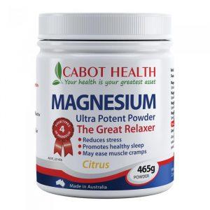 Cabot Health Magnesium Ultra Potent Citrus Powder 465g Media 01 Lrg