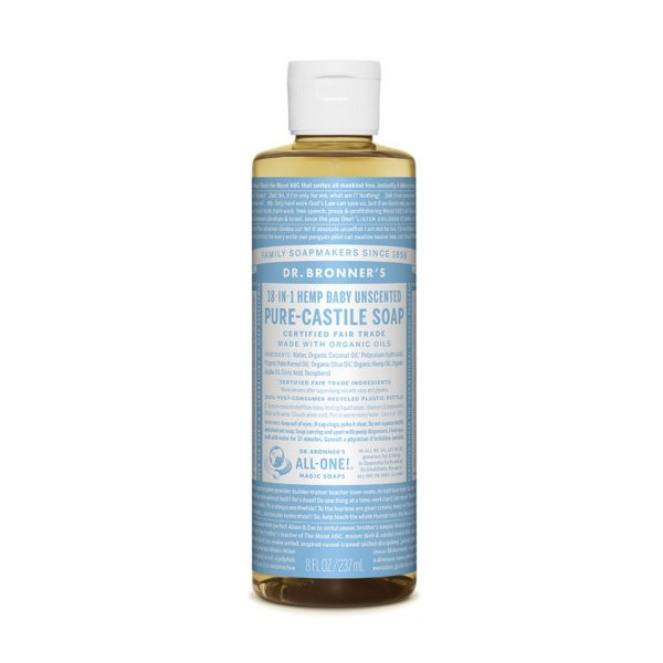 Dr. Bronners Pure Castile Soap Liquid Baby Unscented 237ml Media 01 18110.1538999358