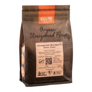 Kialla Organic Stoneground Wholegrain Plain Flour 1kg