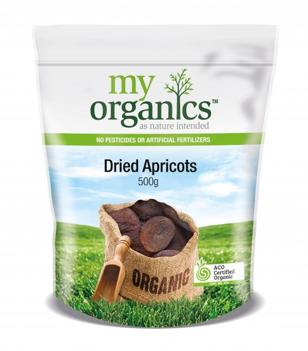 My Organics Retail Doy Pack Apricots Dried 500g