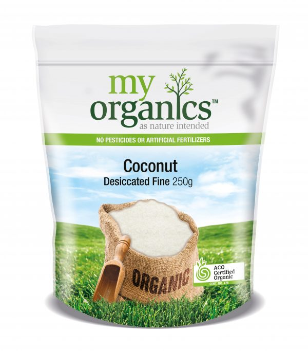 My Organics Retail Doy Pack Coconut Desiccated Fine 250g