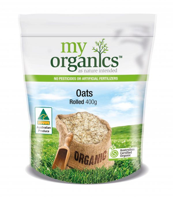 My Organics Retail Doy Pack Oats Rolled 400g