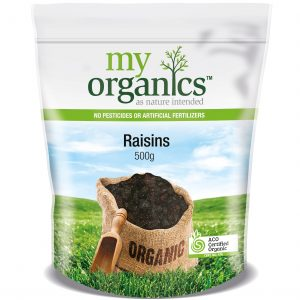 My Organics Retail Doy Pack Raisins 500g