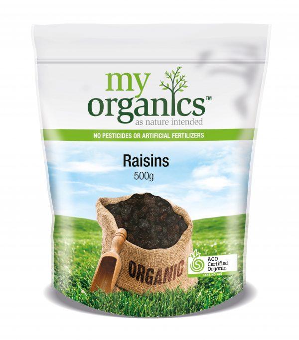 My Organics Retail Doy Pack Raisins 500g