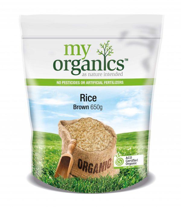 My Organics Retail Doy Pack Rice Brown 650g