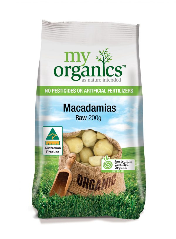 My Organics Retail Pack Macadamias Raw 200g