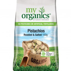 My Organics Retail Pack Pistachios Roasted Salted 150g (1)