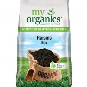 My Organics Retail Pack Raisins 250g