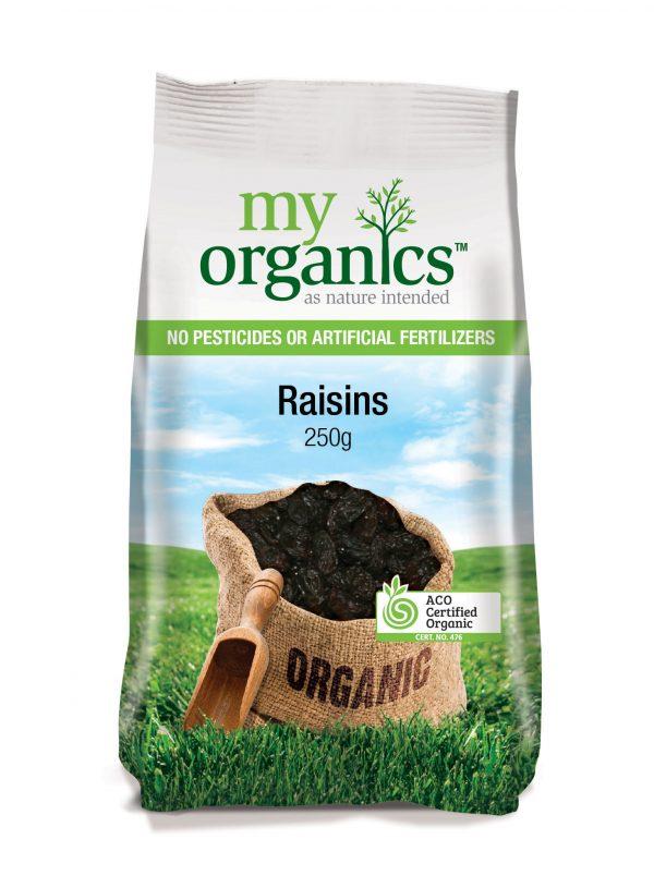 My Organics Retail Pack Raisins 250g