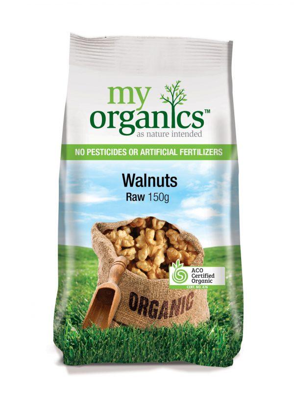 My Organics Retail Pack Walnuts Raw 150g