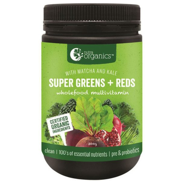 Nutraorganics Super Greens Plus Reds Powder 300g Media 01 39051.1538889529