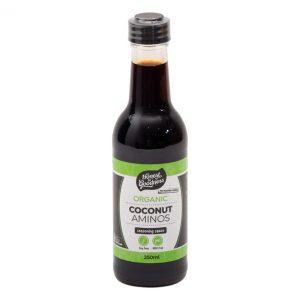 Organic Coconut Aminos 250ml Front Vdcoca2.250 91821.1617682694