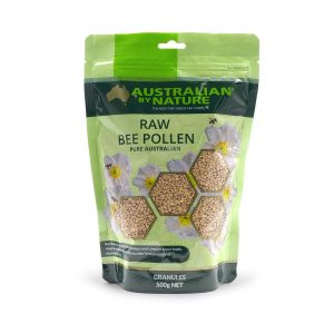 Raw Bee Pollen Granules 500g Front