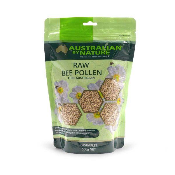 Raw Bee Pollen Granules 500g Front