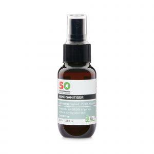 Saba Organics Hand Sanitiser Scent Free 50ml Front 1024x1024@2x
