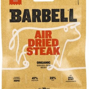 Barbell Burn Chilli Spice Air Dried Steak Biltong Organic 30g