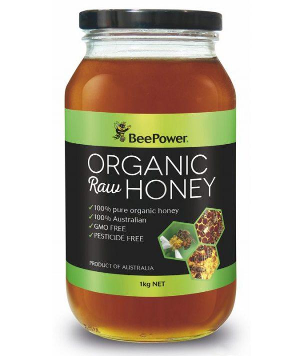 Beepower Organic Raw Honey 1kg