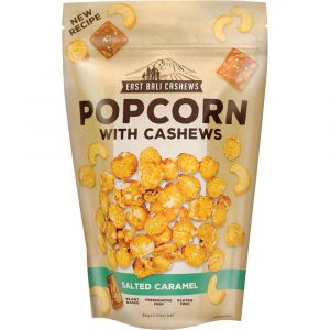 East Bali Cashews Popcorn With Cashews Salted Caramel 90g