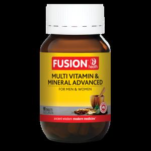 Fusion Health Multi Vitamin Mineral Advanced 90 Tablets 2021 Q2 Lrg