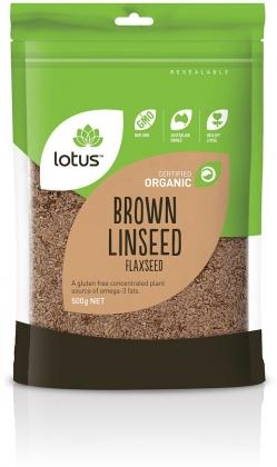 Lotus Organic Brown Linseed Flaxseed 500g