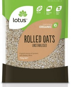 Lotus Organic Raw Rolled Oats 750gm