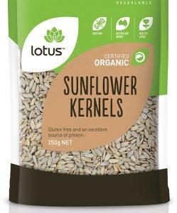 Lotus Organic Sunflower Kernels Chinese 250gm