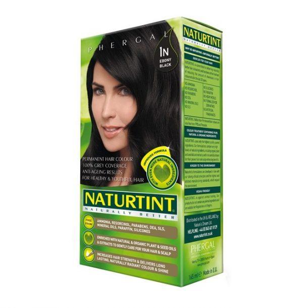 Naturtint Permanent Hair Colour 1n Ebony Black 165ml