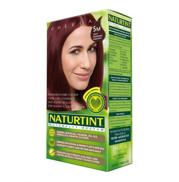 Naturtint Permanent Hair Colour 5m Light Mahogany Chestnut 165ml
