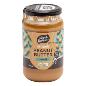 Organic Peanut Butter Smooth 375g Front Sppeasmh2g2.375 73294.1615165585