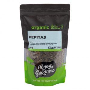 Organic Pepitas 500g Front Sepep2.500 09039.1615165638