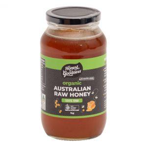 Organic Raw Honey Australian 1kg Front Sphonra2.1 21878.1615165777