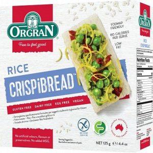 Orgran Toasted Rice Crispibread 125g