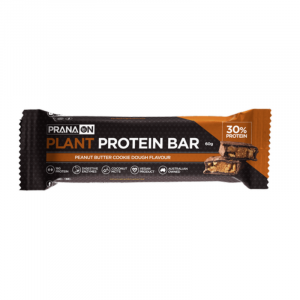 Pranaon Vegan Power Plant Protein Bar Single 60g Peanut Butter Cookie Dough Png 800x800